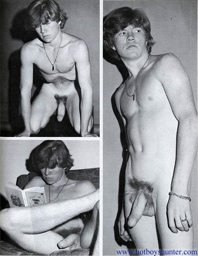 Huge cock naked boy vintage photo